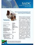 SGDM Factsheet Tanzania